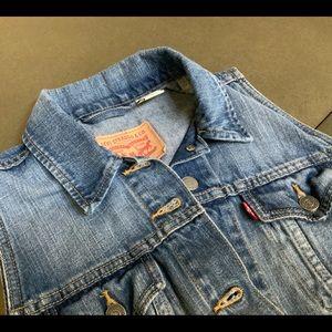 Levi's Demin Trucker Vest M Women's Button Jean
